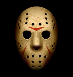 Scary hockey mask vector image vector image