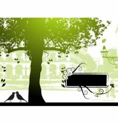 street scene vector image vector image