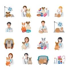 Veterinary Icon Flat vector image vector image