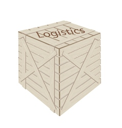 A Wooden Cargo Box for Transportation and Logistic vector image vector image