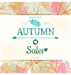 Autumn sale EPS 10 vector image