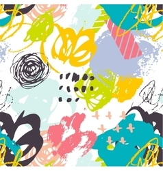 Creative hand drawn background pattern vector image vector image
