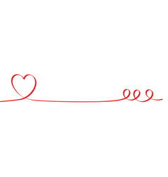 heart shape ribbon banner vector image vector image