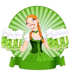 Saint Patricks Day Girl vector image vector image