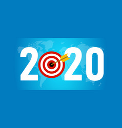 2020 target new resolution symbolize with dart vector image