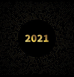 2021 new year card design background with gold vector image