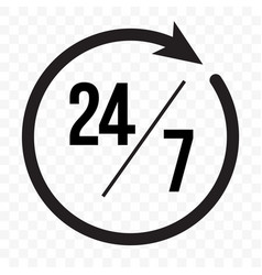 24 7 clock arrow icon customer support delivery vector image