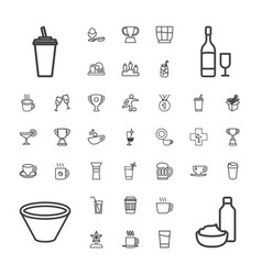 37 cup icons vector