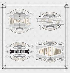 4 vintage typographic label premium vector