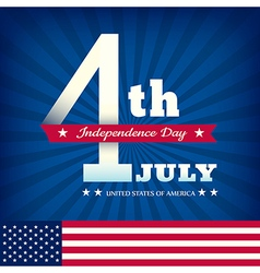 4th july independence day with american flag vector image