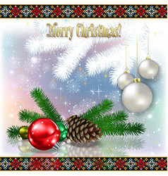 Abstract celebration greeting with christmas vector