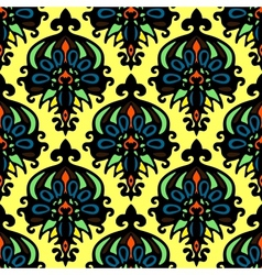 Abstract Flower seamless pattern vector