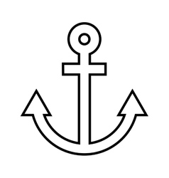 anchor isolated icon design vector image