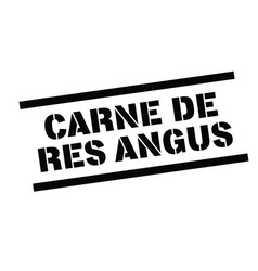Angus beef stamp in spanish vector