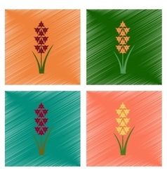 Assembly flat shading style gladiolus vector