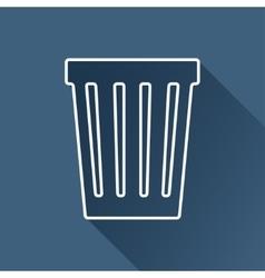 basket icon Eps10 vector image