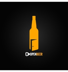 Beer bottle open concept background vector