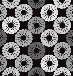 Black and grey background white round abstract vector image