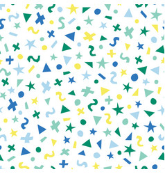 blue green yellow abstract shapes seamless vector image