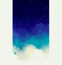 Blue watercolor sky smartphone background vector