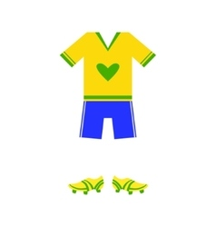 Brazilian Soccer Player Uniform vector image