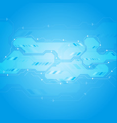 bright blue abstract circuit board chip background vector image