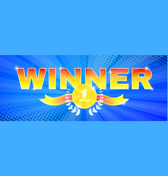Bright colors banner winner theme vector