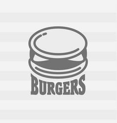 burger logo fast food symbol or badge concept vector image