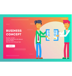 business concept businessmen break contract vector image