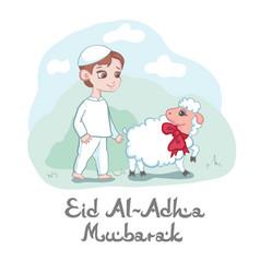 Card or poster design for eid al-adha mubarak vector