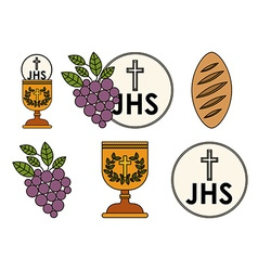Bread and Cup Communion Vector Images (99)