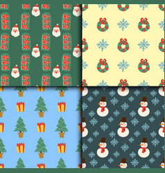 christmas seamless pattern background for vector image