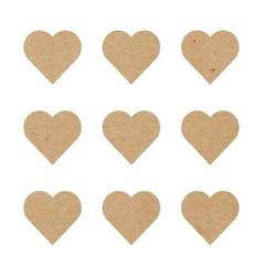 Craft paper hearts vector