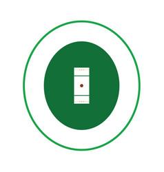 Cricket field icon vector