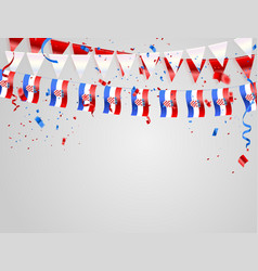 Croatian flags celebration background template vector