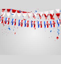 Croatian flags celebration background template vector