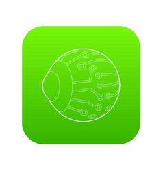 Cyber eyes icon green vector