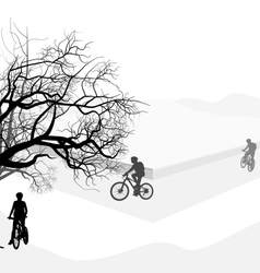 Cyclist holiday vector