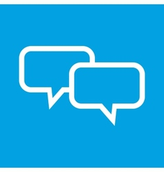 Dialog white icon vector image