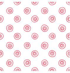Doodle polka dots seamless pattern vector