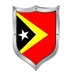 East Timor flag button vector