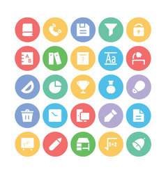 Education Bold Icons 6 vector image