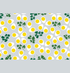 egg seamless pattern food background vector image