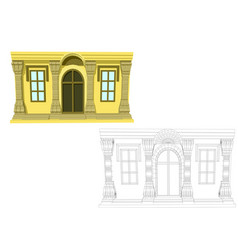 entrance and two windows vector image