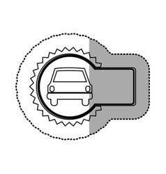 Figure emblem car front icon vector