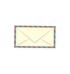 flat postal mail envelope icon vector image