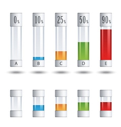 glass tubes percent infographic vector image