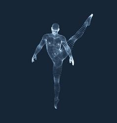 Gymnast man 3d model of man human body model view vector