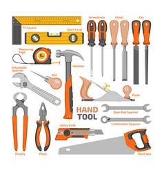 hand tool construction handtools hammer vector image
