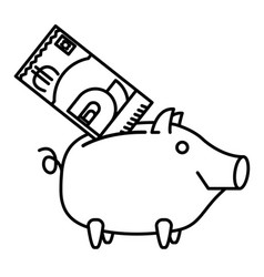 happy piggy bank or money box vector image